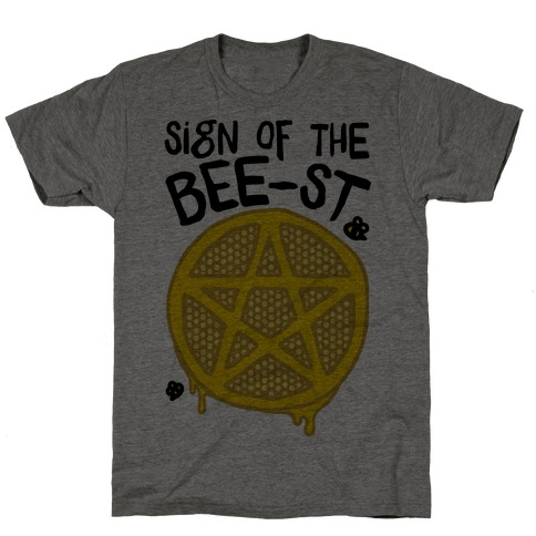 Sign Of the Bee-st Satanic Bee Parody T-Shirt