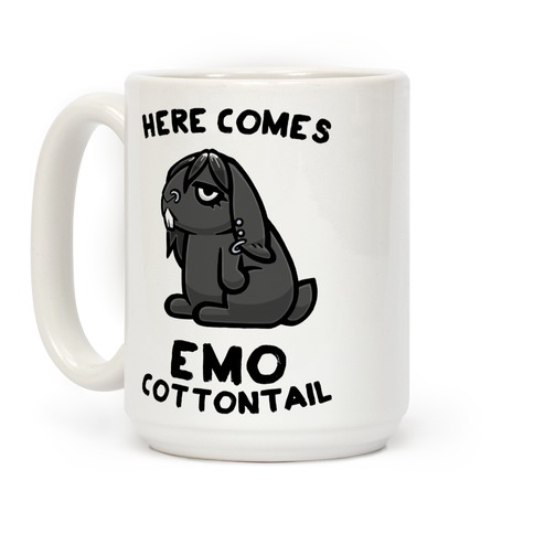 Here Comes Emo Cottontail Coffee Mug