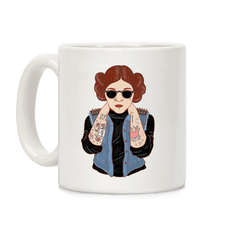 Punk Leia Parody Coffee Mug
