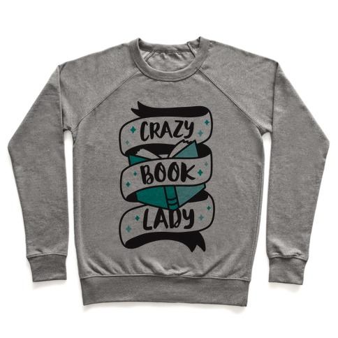 Crazy Book Lady Pullover