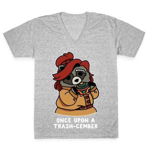 Once Upon a Trash-Cember Raccoon Anastasia  V-Neck Tee Shirt
