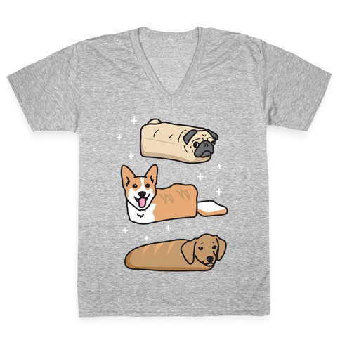 Dog Breads V-Neck Tee Shirt