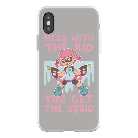 Mess With the Kid, You Get the Squid Phone Flexi-Case