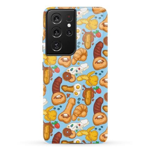 Phallic Breakfast Pattern Phone Case