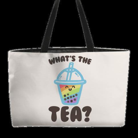 What's The Tea Bubble Tea Weekender Tote