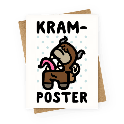 Kram-Poster Greeting Card