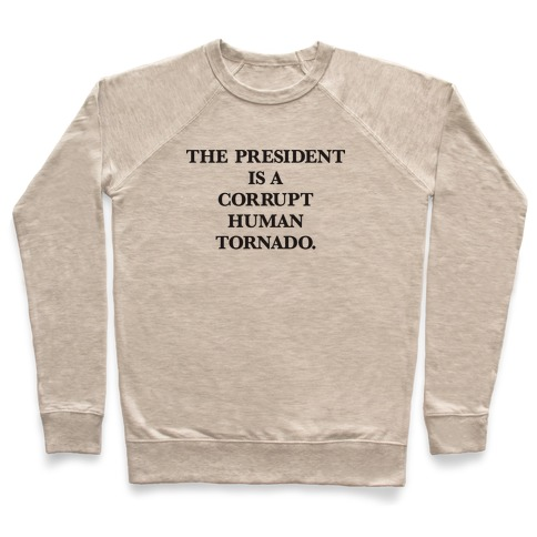 The President Is A Corrupt Human Tornado Pullover