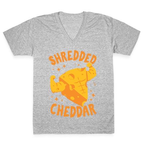Shredded Cheddar V-Neck Tee Shirt