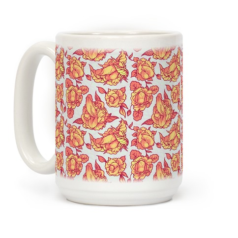 Floral Penis Orange Coffee Mug