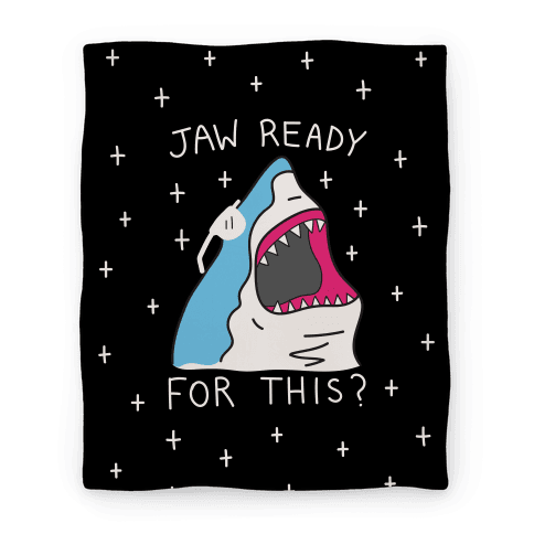 Jaw Ready For This? Shark Blanket