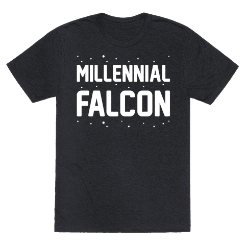 Millennial Falcon Parody White Print