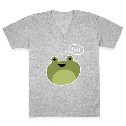 F*** Frog (Uncensored) V-Neck Tee Shirt