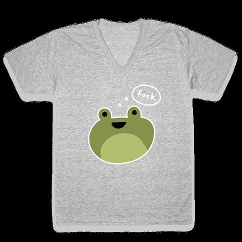 F*** Frog (Uncensored) V-Neck Tee Shirt