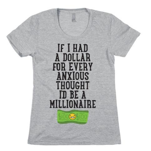 Anxious Millionaire Womens T-Shirt