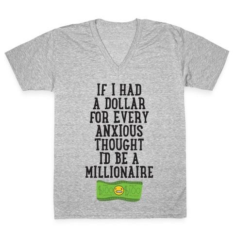 Anxious Millionaire V-Neck Tee Shirt