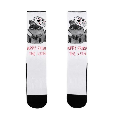 Happy Friday The 13th Sock