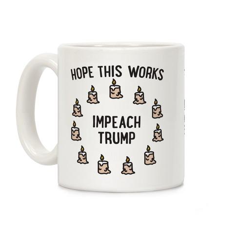 Impeach Trump Summoning Circle Parody Coffee Mug