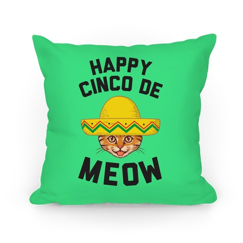 Cinco De Meow Pillow