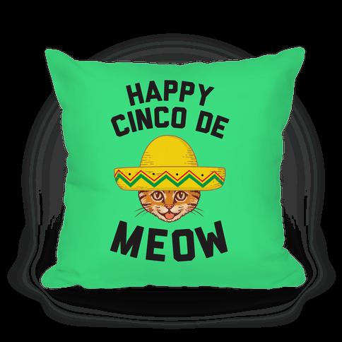Cinco De Meow Pillow