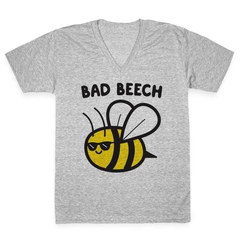 Bad Beech Bee V-Neck Tee Shirt