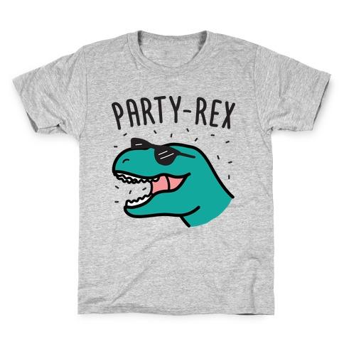 Party-Rex Dinosaur Kids T-Shirt