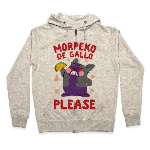 Morpeko De Gallo Please Zip Hoodie
