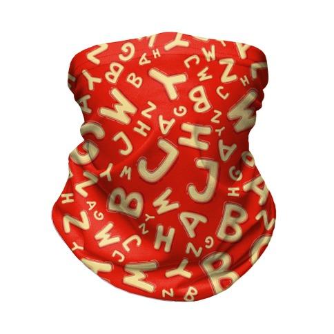 Alphabet Soup Pattern Neck Gaiter
