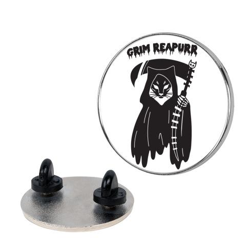 Grim Reapurr Cat Pin