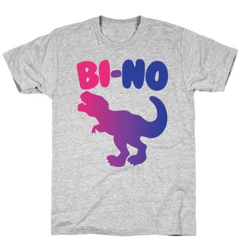 Bi-No Parody White Print T-Shirt