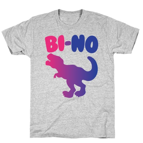 Bi-No Parody White Print T-Shirt