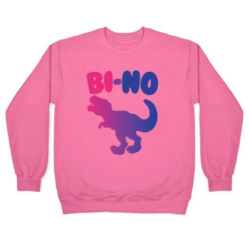 Bi-No Parody White Print Pullover