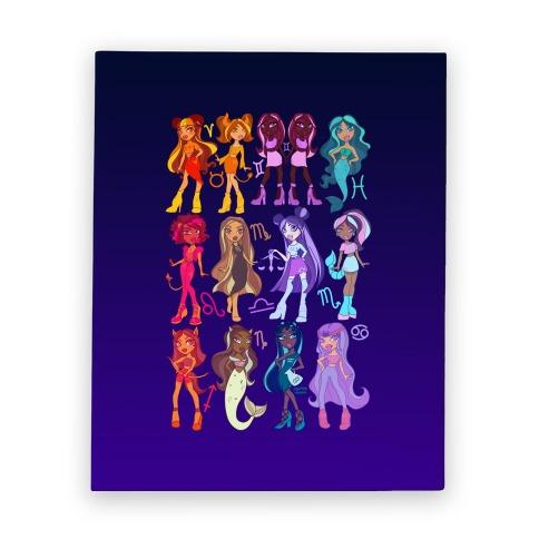 Zodiac Dollz Canvas Print