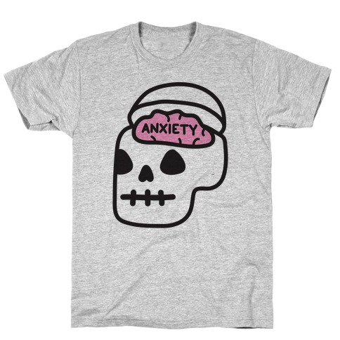 Anxiety Holder (Skull) T-Shirt