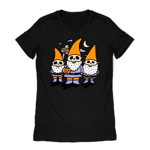 Happy Hall-Gnome-Ween (Halloween Gnomes) Womens T-Shirt