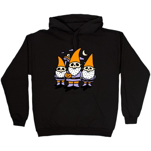Happy Hall-Gnome-Ween (Halloween Gnomes) Hooded Sweatshirt