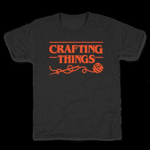 Crafting Things Parody Kids T-Shirt