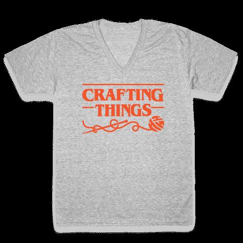 Crafting Things Parody V-Neck Tee Shirt