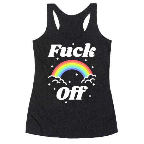 F*** Off Rainbow Racerback Tank Top