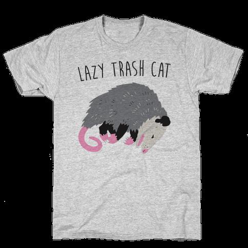 Lazy Trash Cat Mens/Unisex T-Shirt