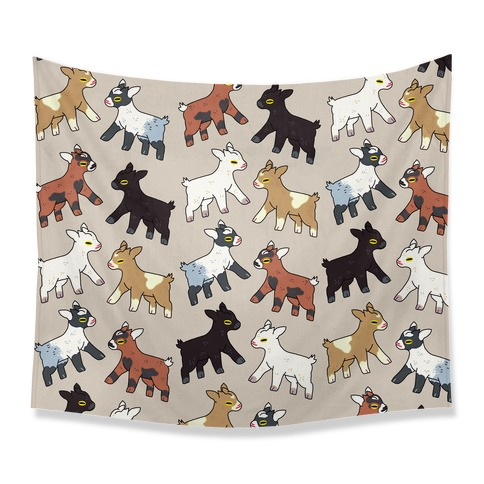 Baby Goats On Baby Goats Pattern Tapestry