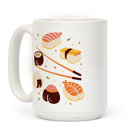 Subtle Sushi Booty Coffee Mug