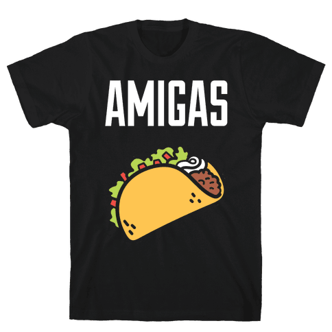 Best Amigas (Taco) Mens T-Shirt