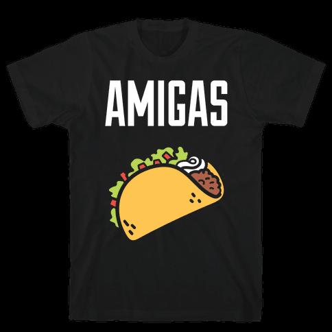 Best Amigas (Taco) Mens T-Shirt