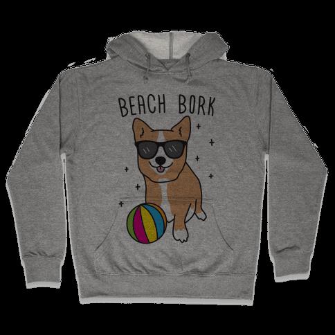 Beach Bork Corgi Hooded Sweatshirt