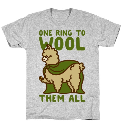 One Ring To Wool Them All Parody T-Shirt