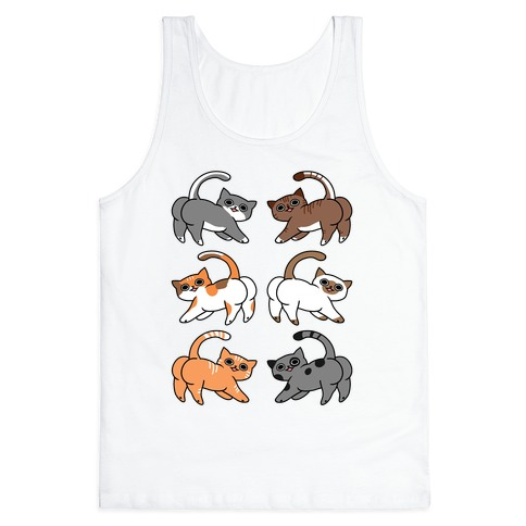 Cats With Buttcheeks Tank Top