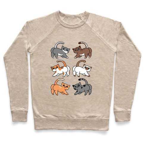 Cats With Buttcheeks Pullover