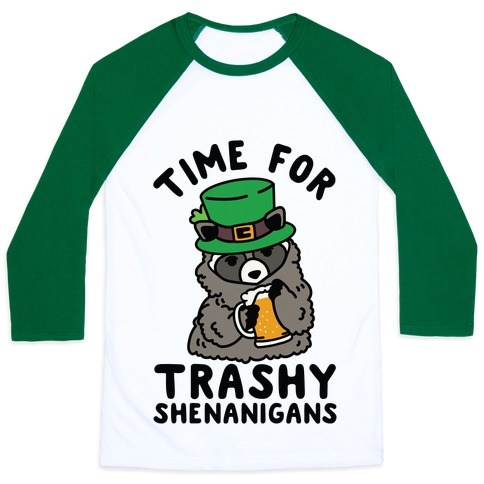Time For Trashy Shenanigans Racoon Baseball Tee
