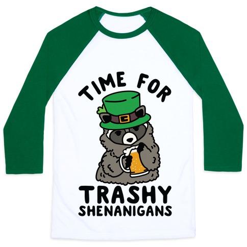 Time For Trashy Shenanigans Racoon Baseball Tee