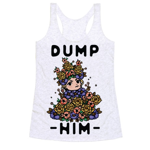 Dump Him May Queen Racerback Tank Top